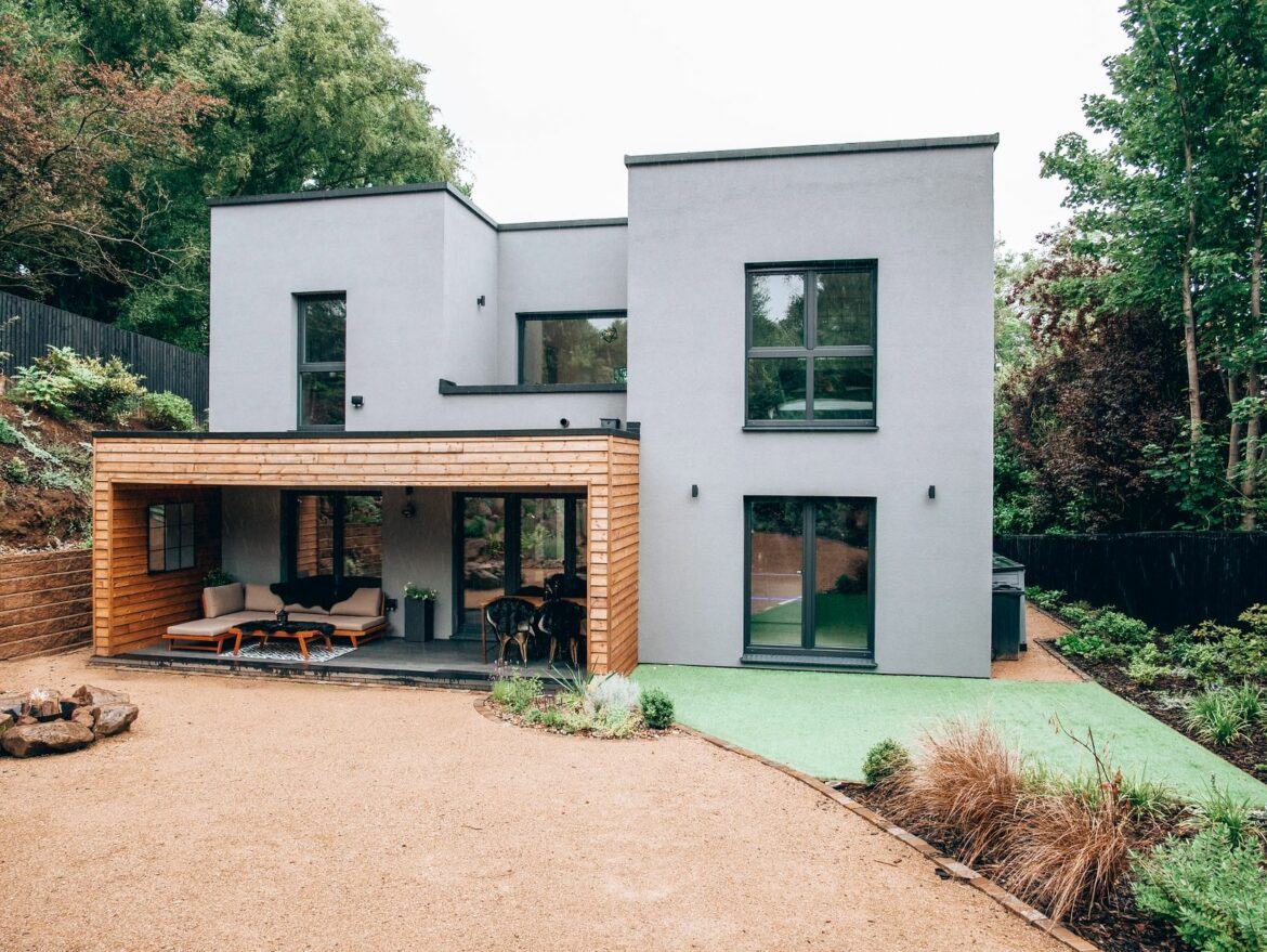 Couple build stunning dream house in just six weeks – and now it's on sale